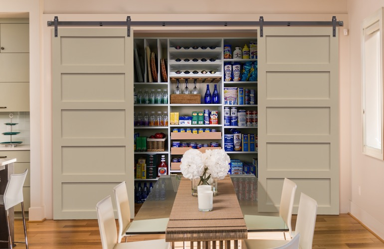 Sliding Barn Doors On A San Jose Pantry