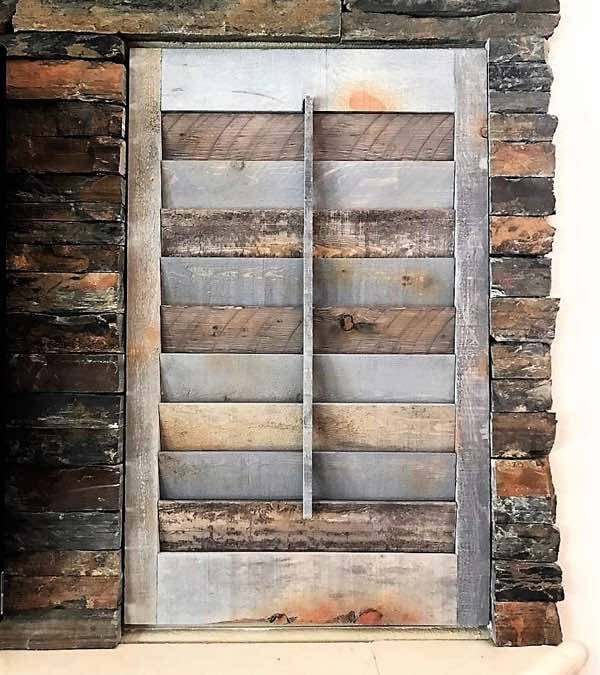 San Jose reclaimed wood shutter