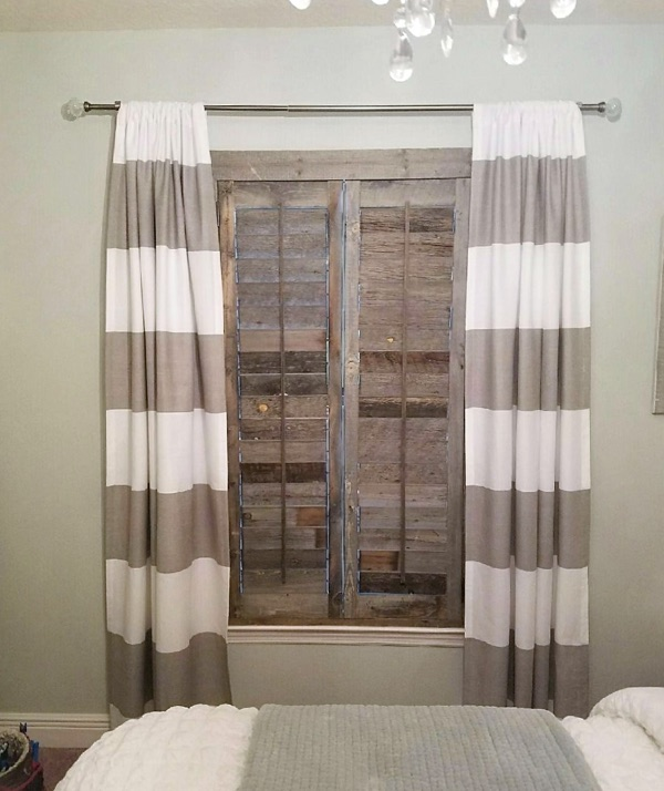 San Jose reclaimed wood shutter bedroom