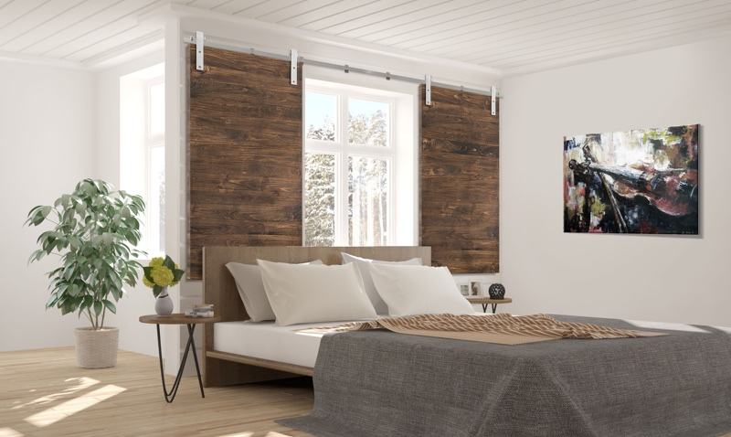 San Jose bedroom barn door shutters