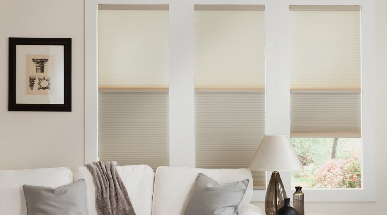 Cellular shades in a San Jose living room
