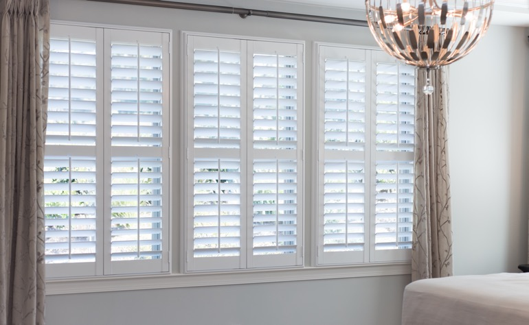 San Jose plantation shutters bedroom