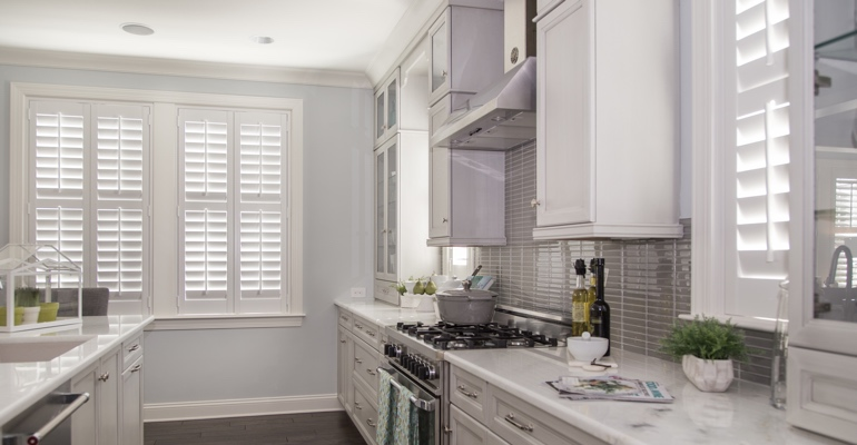 San Jose kitchen white shutters