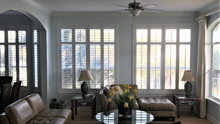 San Jose living room shutters
