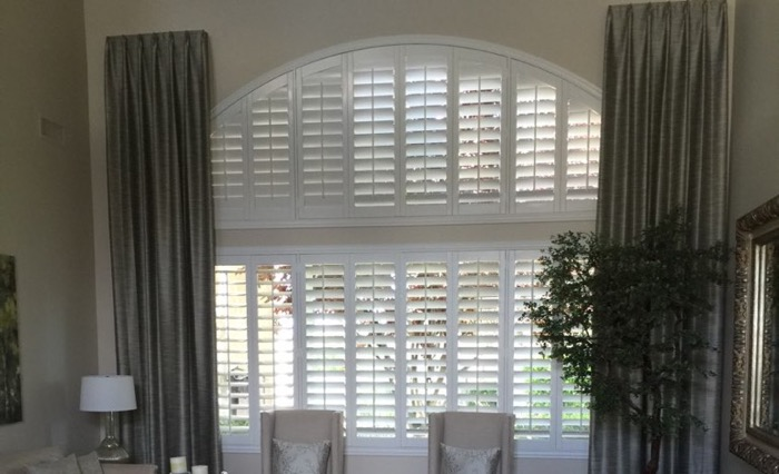 San Jose drapes and shutters.
