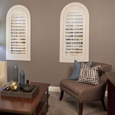 San Jose family room interior shutters.