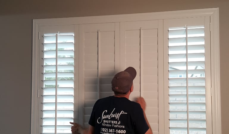 Installation of plantation shutters in San Jose