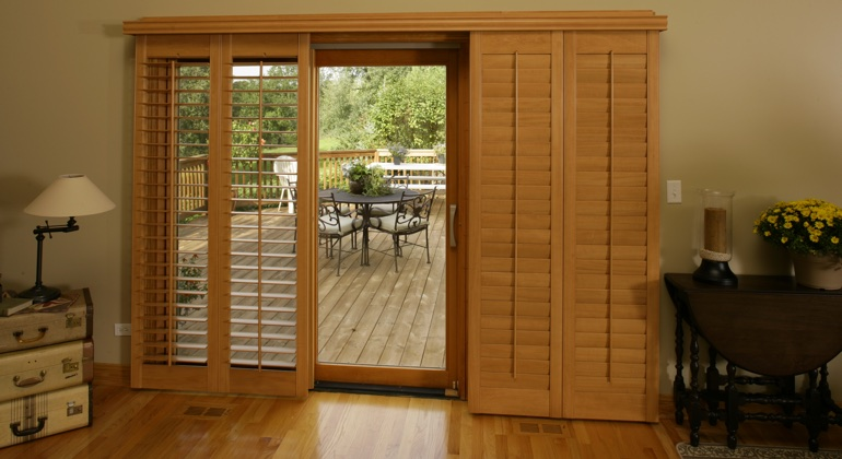 San Jose wood shutter sliding door