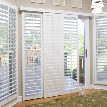 San Jose Sliding Patio Door Shutters