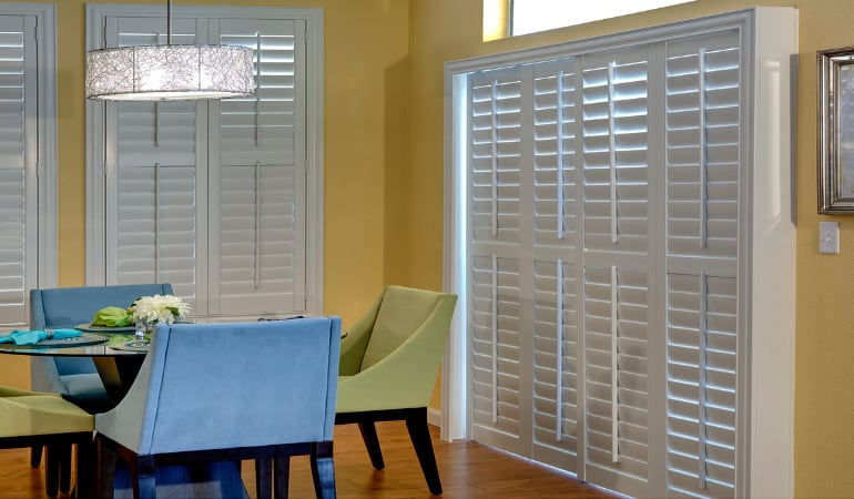 Patio Doors with Plantation Shutters in San Jose