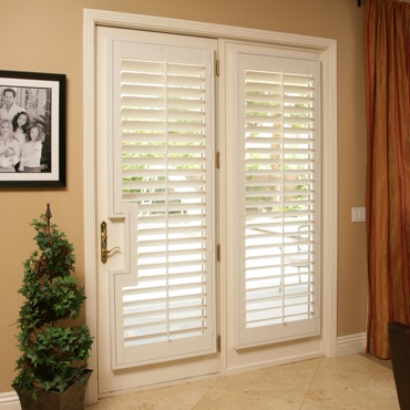 Patio French Door Shutters San Jose