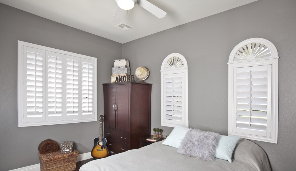 Polywood Shutters In A San Jose Bedroom
