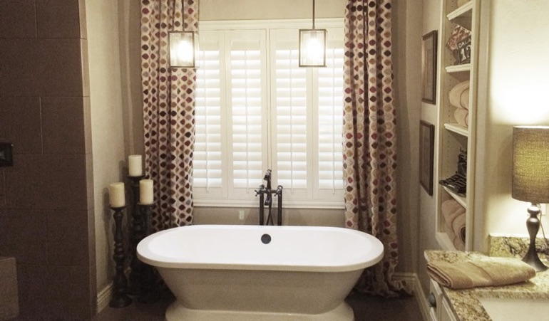 Polywood Shutters in San Jose Bathroom