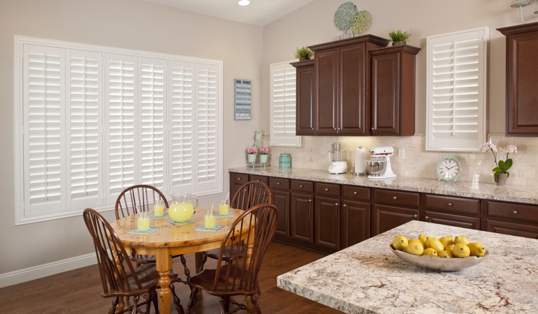 Polywood Shutters in San Jose kitchen
