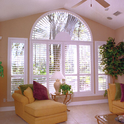 Half circle window shutter San Jose