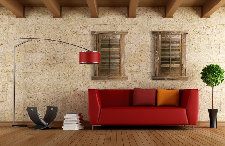 Reclaimed Wood Shutters In A San Jose Living Room