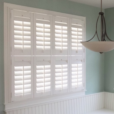 The Most Recent Addition To Sunburst Family Studio Shutters Are A Stripped Down Plantation Shutter That Conveys Same Clic Look As Our Polywood
