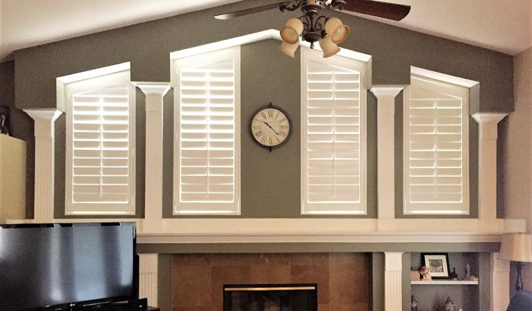 Polywood Shutters in Family Room in San Jose