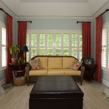 San Jose sunroom window shutters.