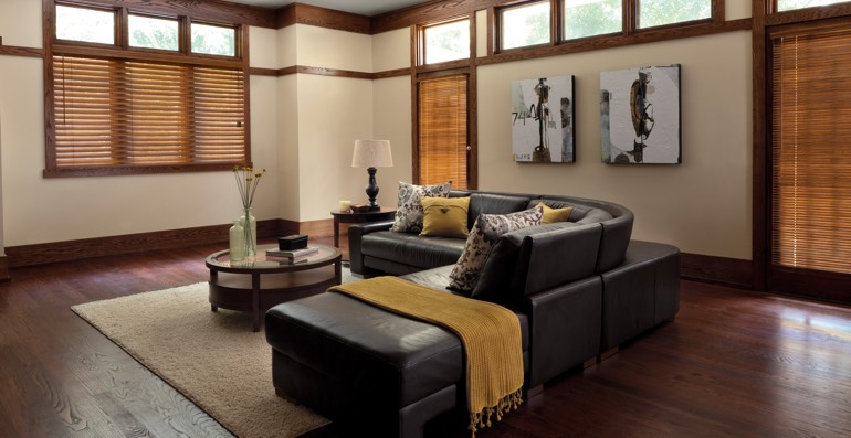 San Jose hardwood floor and blinds