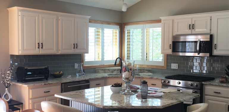 San Jose kitchen with shutters and appliances