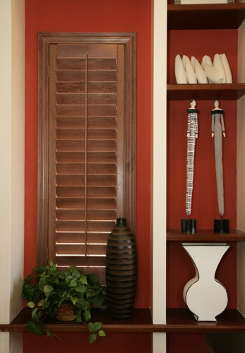 San Jose wood shutter shelving