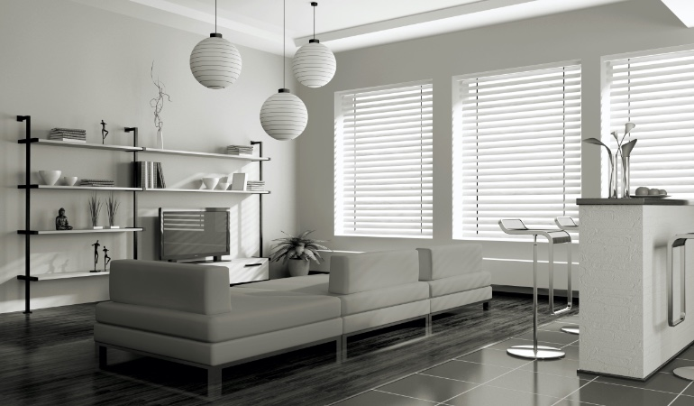 white blinds in San Jose