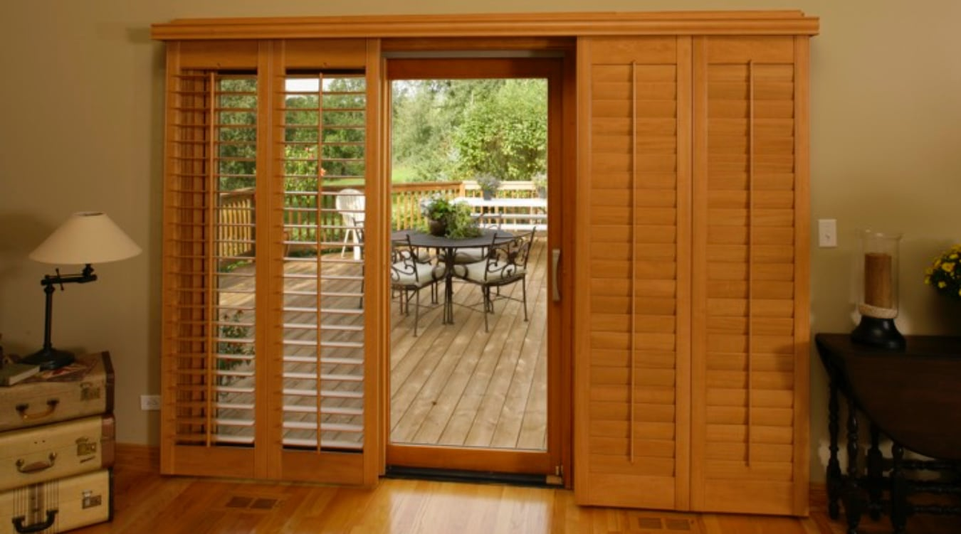 Sliding Glass Door Shutter In San Jose