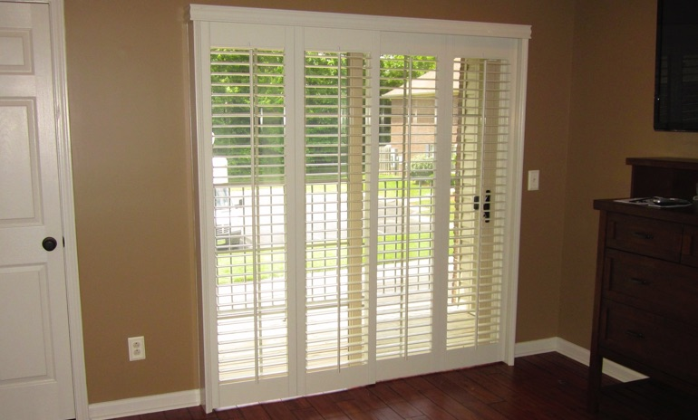 San Jose sliding door bifold shutters in living room
