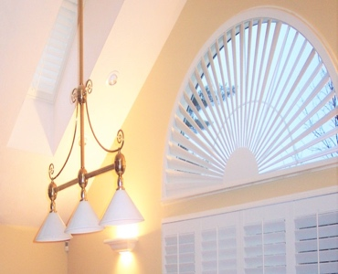 San Jose arched eyebrow window with classic shutter