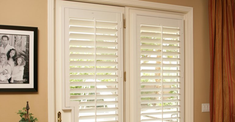 San Jose french door plantation shutters