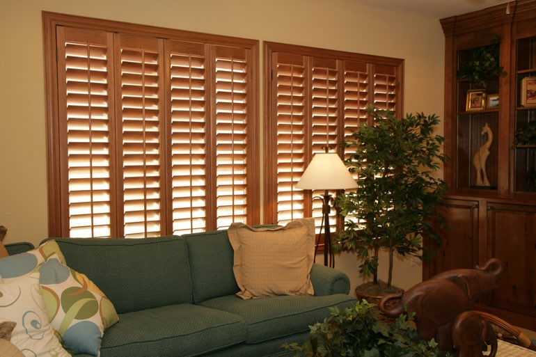 Ovation Shutters In A San Jose Living Room.