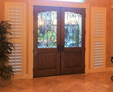 San Jose sidelight window treatment shutter