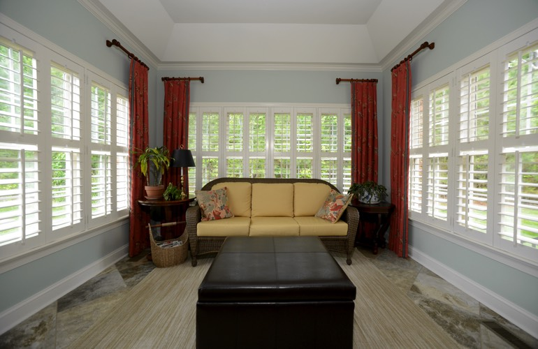 Plantation Shutters In A San Jose Sunroom